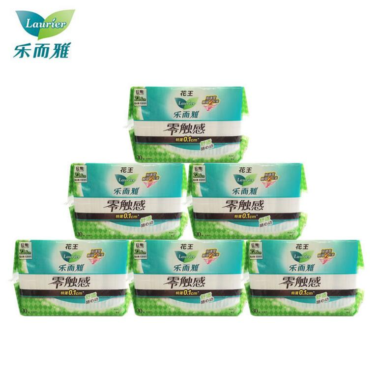 Authentic wholesale Kao Yue and Ya zero touch sanitary napkins 30 daily thin 0.1 light suction comfo