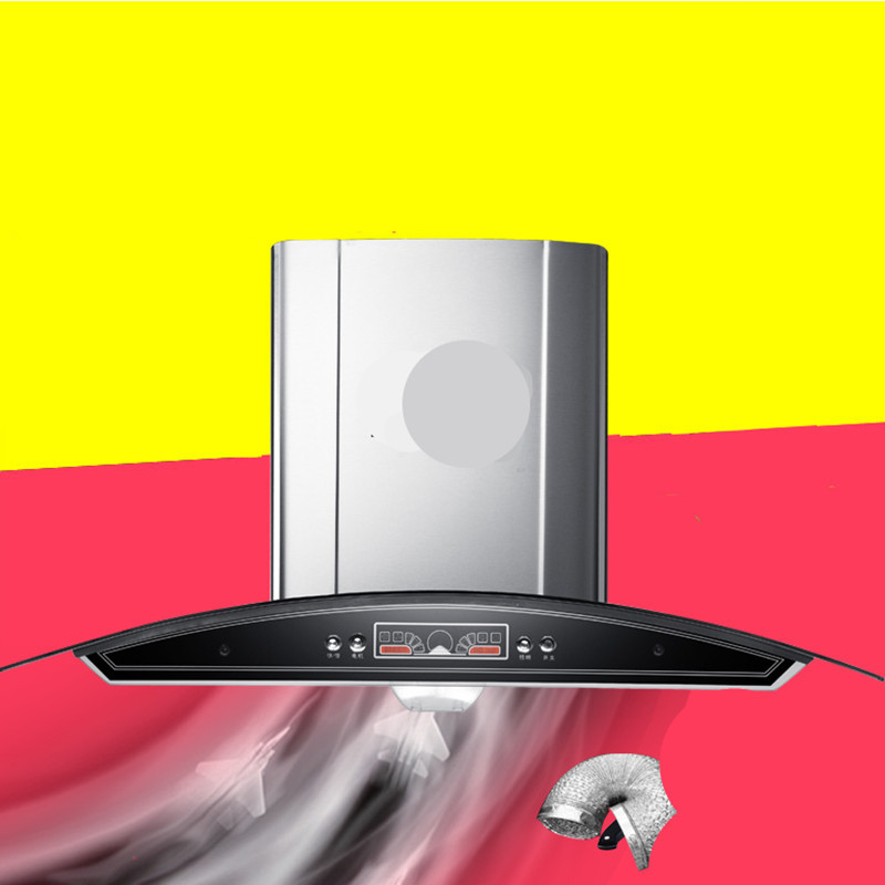 Máy hút khói khử mùi   European style hood top suction large suction hood manufacturers selling stai