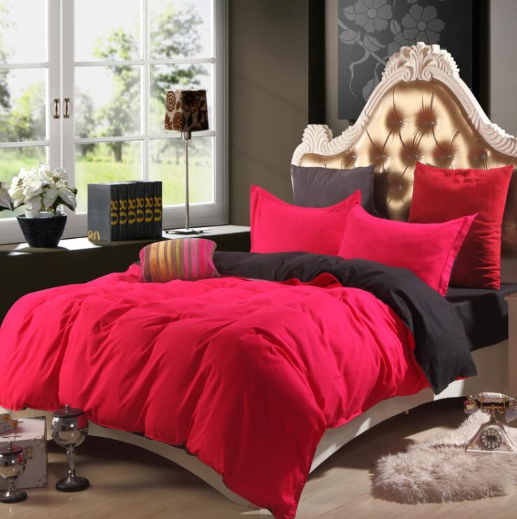 Bộ sản phẩm trải giường cotton màu trơn dành cho gia đình 4 thành viên