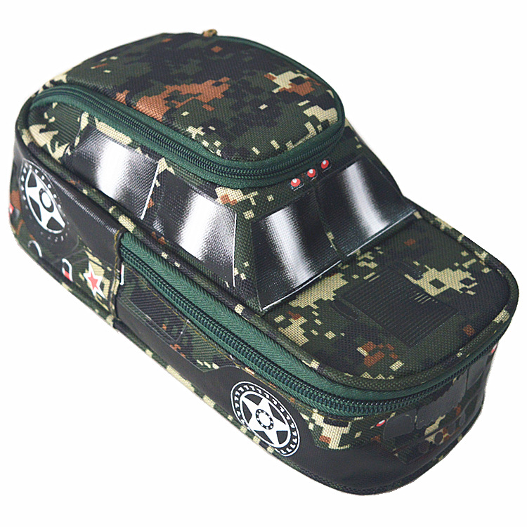 Large capacity multifunctional pen pencil bag boys camouflage cross-country car stationery wholesale