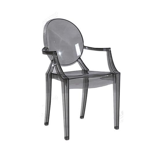 Ghế dựa lưng bằng nhựa, phong cách trong suốt Mỹ và châu Âu Wing Hing PC-801