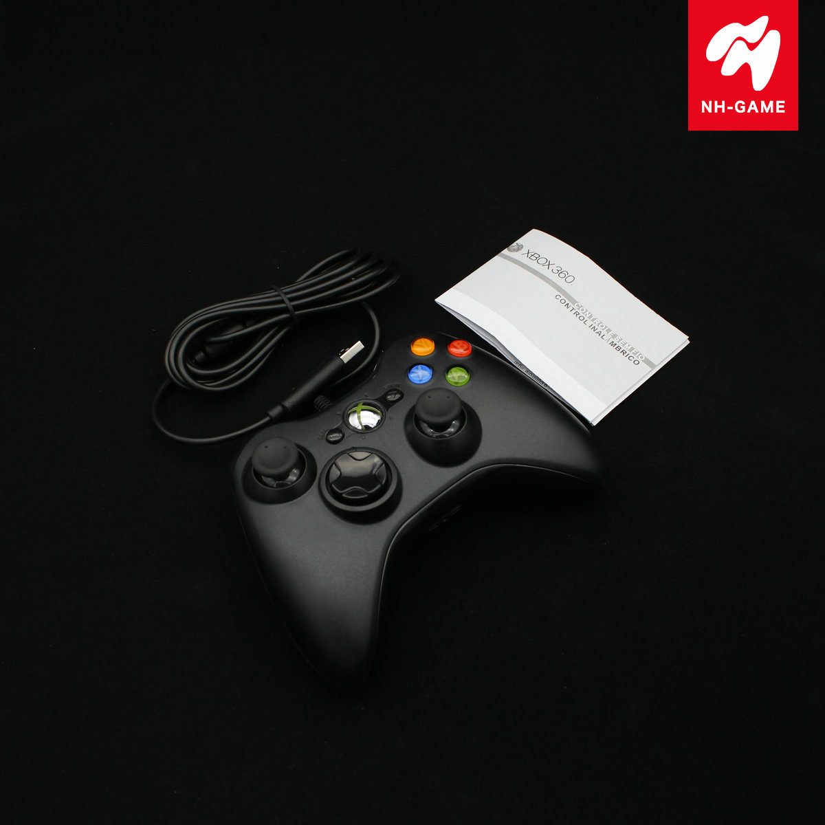 Tay cầm chơi game  BOX360 cable handle PC computer game handle with vibration XBOX360 handle Slim f