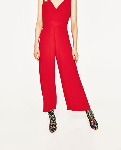 Metal detail decoration short paragraph conjoined trousers