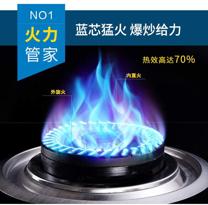 Wholesale authentic gas stove gas stove double pulse ignition stove for household liquefied natural