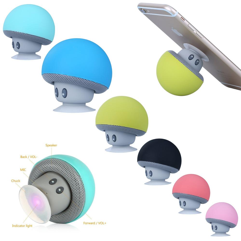 Thị trường âm h ưởng   Cartoon small mushroom head Bluetooth speaker small suction cup mini mobile