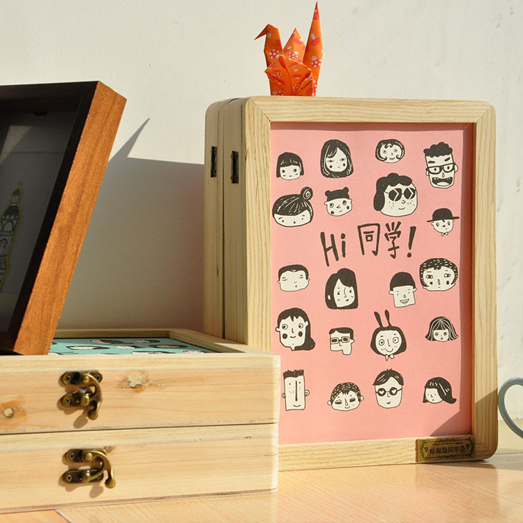 Yi is Korean classmates Hello classmates classbook creative collection of student stationery wooden