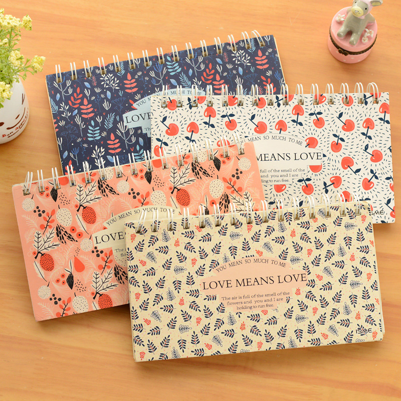 The student book love garden plan of the South Korea stationery creative small fresh floral Notepad