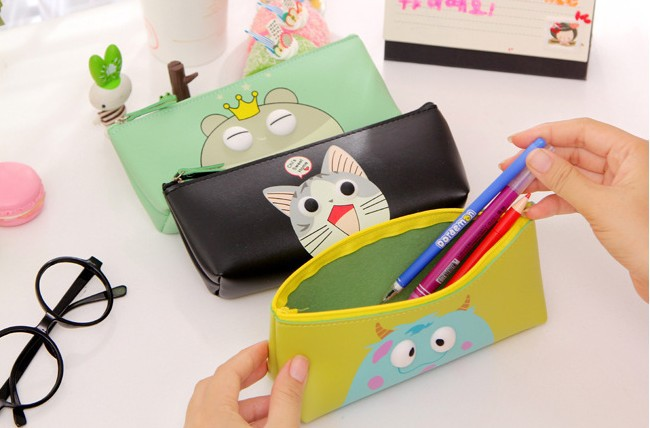 Yan Qi cartoon stereo Eye Pencil cute bulk stationery stationery leather