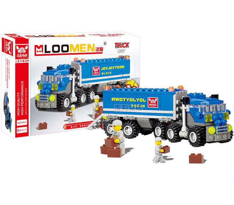 Bộ lego lắp ráp xe tải Joy Joy Town