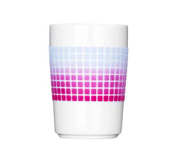 Đồ dùng gia dụng Germany Cara KAHLA velvet cup 350ml- pink gradient mosaic original imported