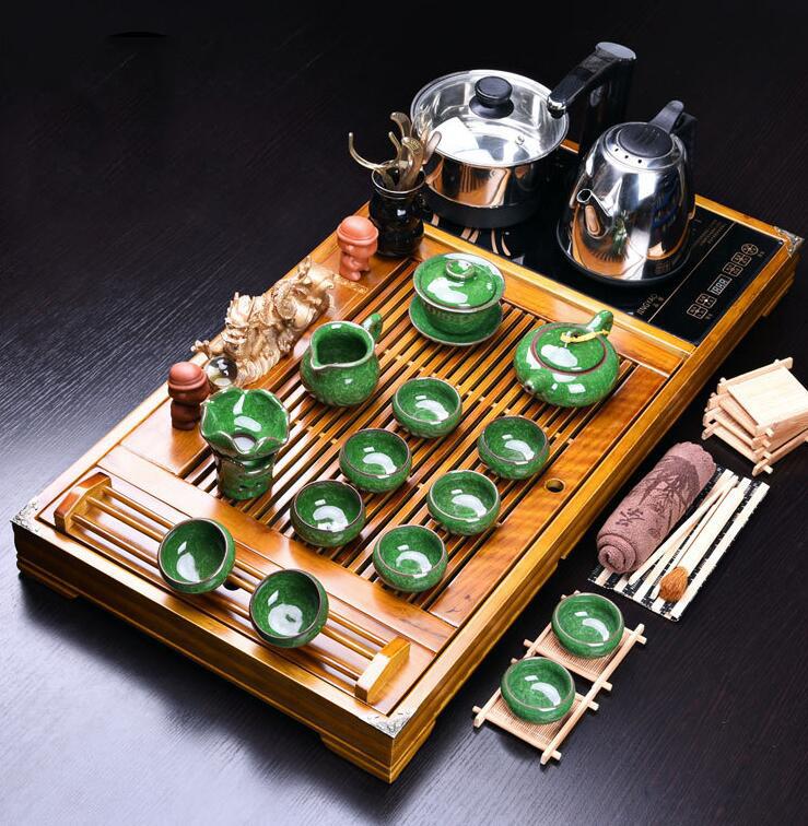 Bộ bàn trà đạo và các dụng cụ pha trà, có kèm bếp cảm ứng HO PEAK