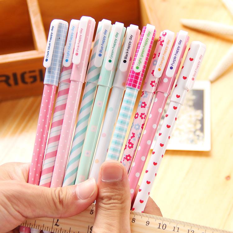 South Korea stationery creative small fresh lovely color pen 10 pen pen set ten special offer.