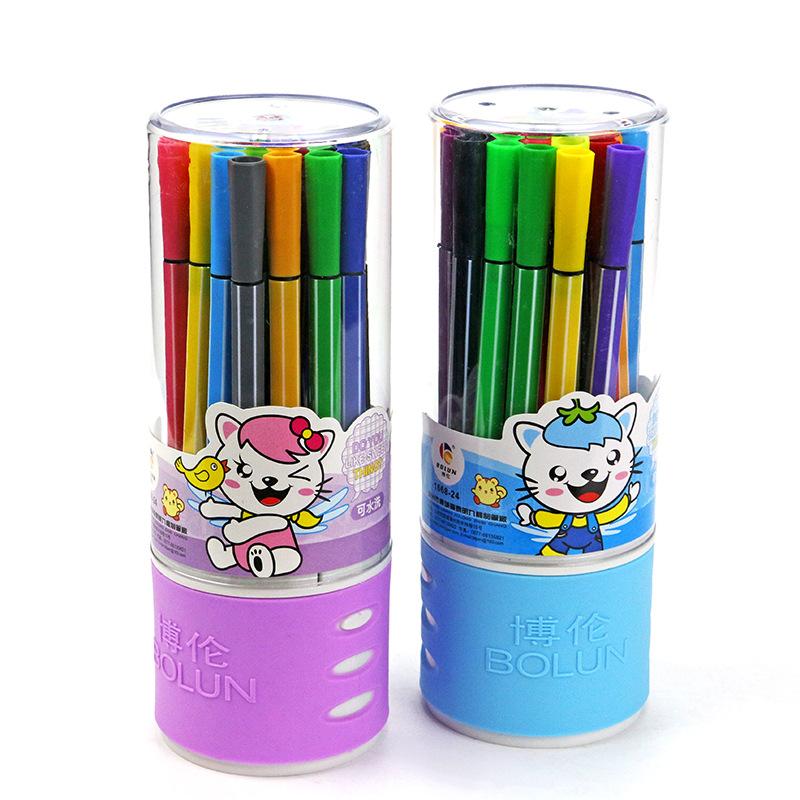 Manufacturers selling bottled 24 color watercolor pen children painting graffiti pen color stationer