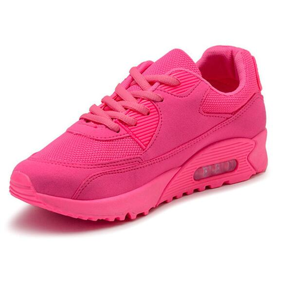 The new Korean female autumn shoes air cushion shoes sneakers(pink) (Intl)