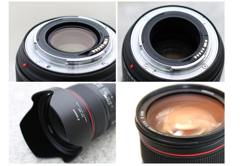 Máy ảnh phản xạ ống kính đơn / Máy ảnh SLR  Canon 24-70 2.8 EF 24-70mm f2.8L red circle zoom lens I