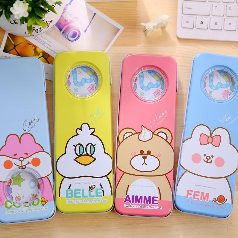 A8G double face cartoon pen pencil pencil box for Korean students skylight children wholesale