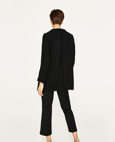 Flash type decorative dress coat