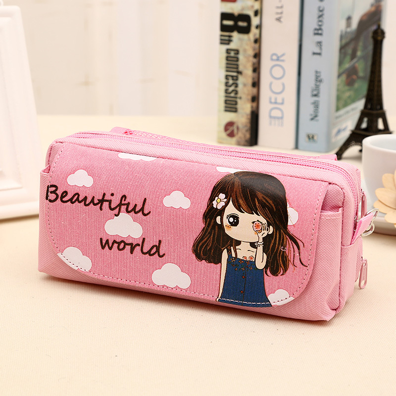 2016 pen manufacturers selling stationery creative canvas bag wholesale Korean pencil stationery box