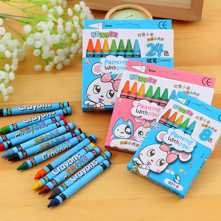 South Korea stationery blue fruit rabbit 81224 color crayon set coloring graffiti pastel pupil prize