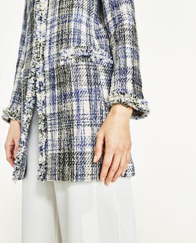 Plaid Dress Jacket, edge decoration