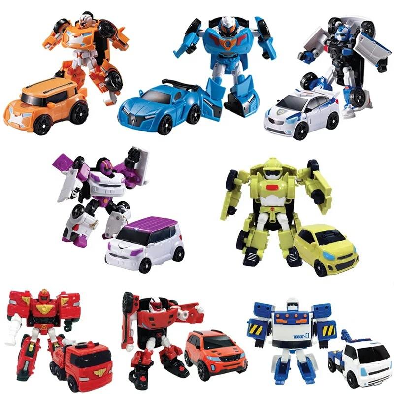 Xe đồ chơi biến hình mini mô phỏng chiến binh xe biến hình Tobot của anh em nhà Bao