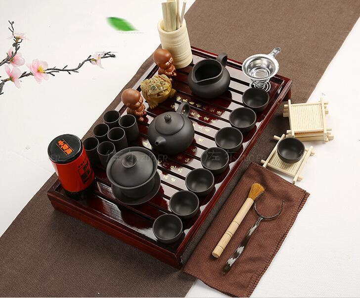 Bộ bàn trà đạo và các dụng cụ pha trà, có kèm bếp cảm ứng ZUO ER
