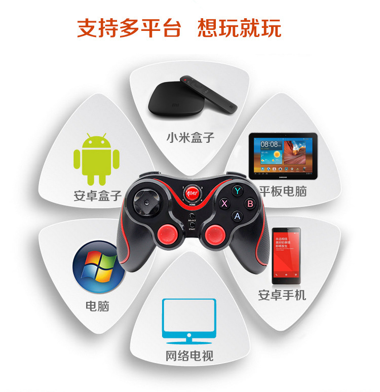 Tay cầm chơi game  Bluetooth wireless handle T3 NVC game handle support Android Apple mobile phone