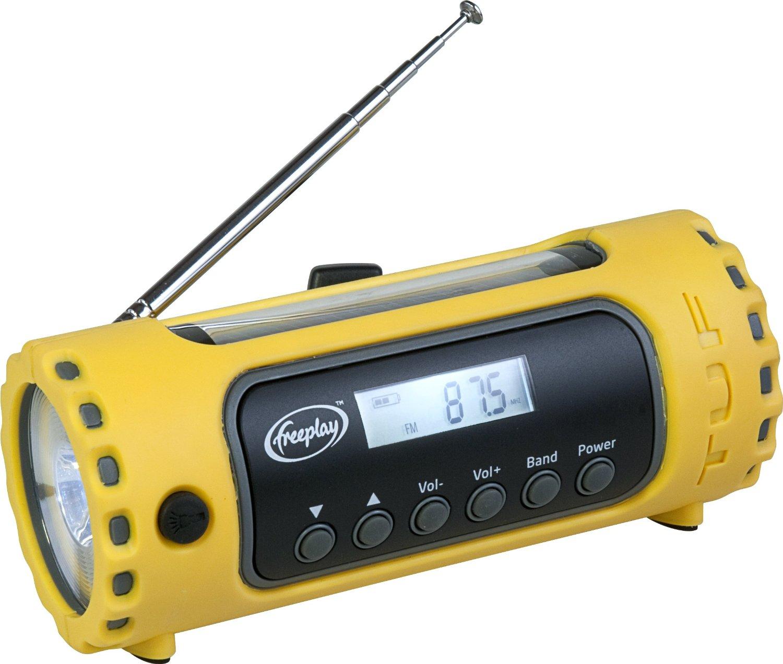 Máy Radio   FreePlay TUF solar / mía AM / FM / WX radio LED đèn pin.