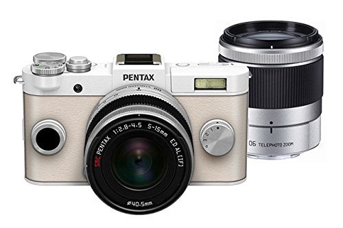 Pentax PENTAX Q-S1 02, 06 Zoom Kit (Pure White) 12.4MP Mirrorless Digital Camera with 3-Inch LCD (Pu