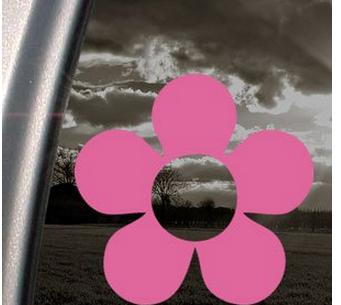 Decal dán cửa hình hoa hồng Hippie