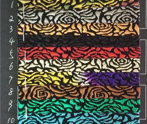 Vật Liệu Da PVC hoa văn kiểu  Ấn Độ tăng đầy màu sắc