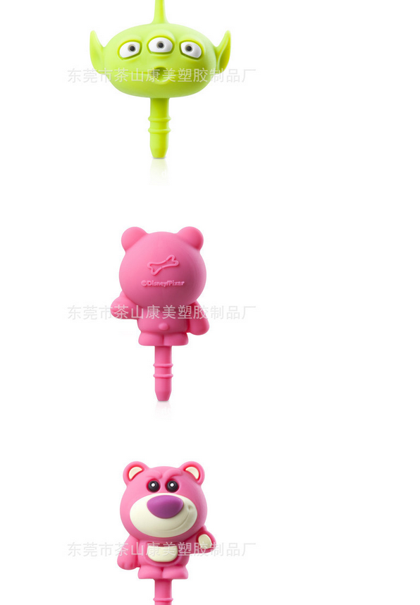 Nút cắm chống bụi  Factory custom PVC soft silicone cute cartoon personality mobile phone dust plug