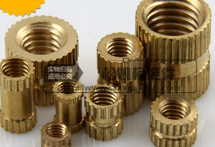 M4 full range of copper inserts / copper pieces / injection of copper inserts A type double through