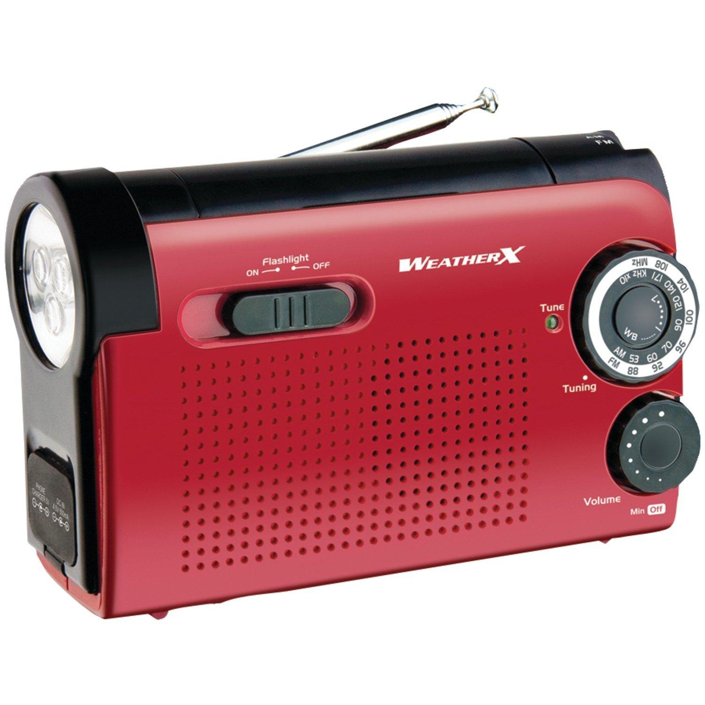 Máy Radio   Thời tiết thời tiết băng tần X wr182r NOAA và AM / FM radio đèn pin, máy phát điện (đỏ