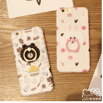Ốp lưng Iphone 6   Explosion creative cartoon support mobile phone shell suitable for Apple 6S iPho