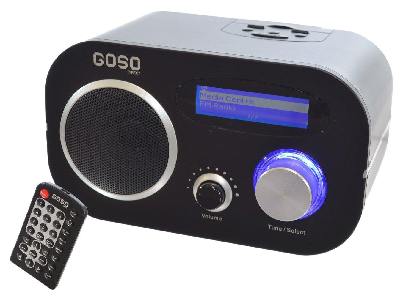Máy Radio   Đi Internet / FM radio music player, đồng hồ báo thức kết nối WiFi, WLAN và Ethernet gi