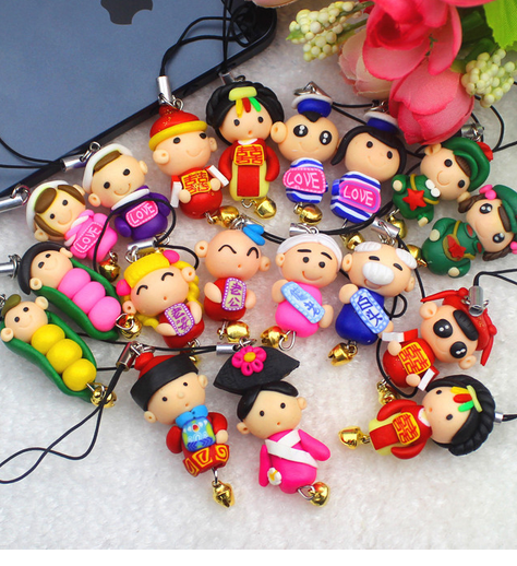 Nút cắm chống bụi  South Korea creative handmade with a diamond cartoon couple dust plug small gift