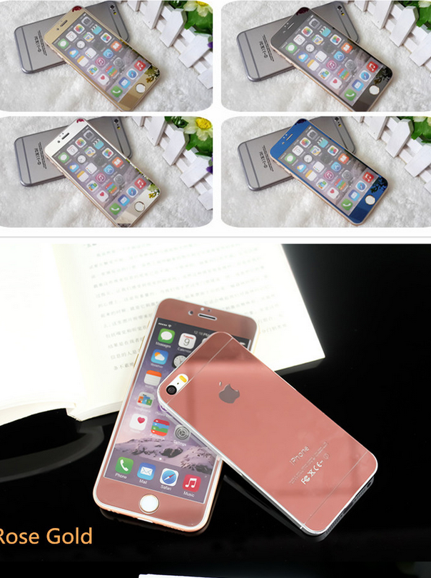 Miếng dán màn hình Iphone 6  Apple 6s electroplated tempered glass color film iphone6 plus phone mi