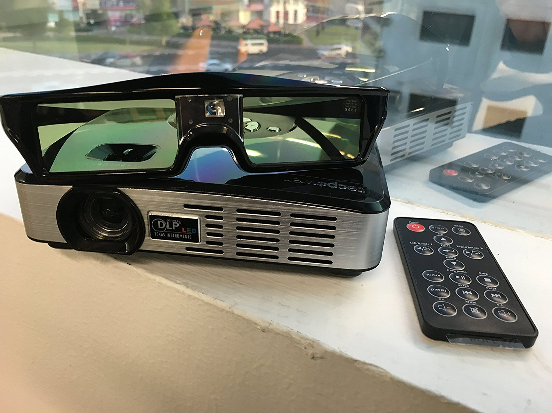Máy chiếu  Các phương tiện truyền thông di động của gia đình tecpower 3D hộp rạp