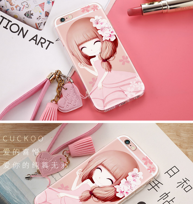 Ốp lưng Iphone 6   Apple 6S phone shell iphone6plus mobile phone shell soft silicone sets of wrestl