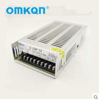Shanghai switch power supply S-240-12 12V20A LED electronic transformer single 12V output