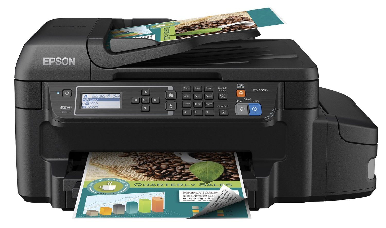 Máy scan   Epson Epson ET-4550 không dây với máy quét ảnh màu, máy in, máy photocopy và máy fax