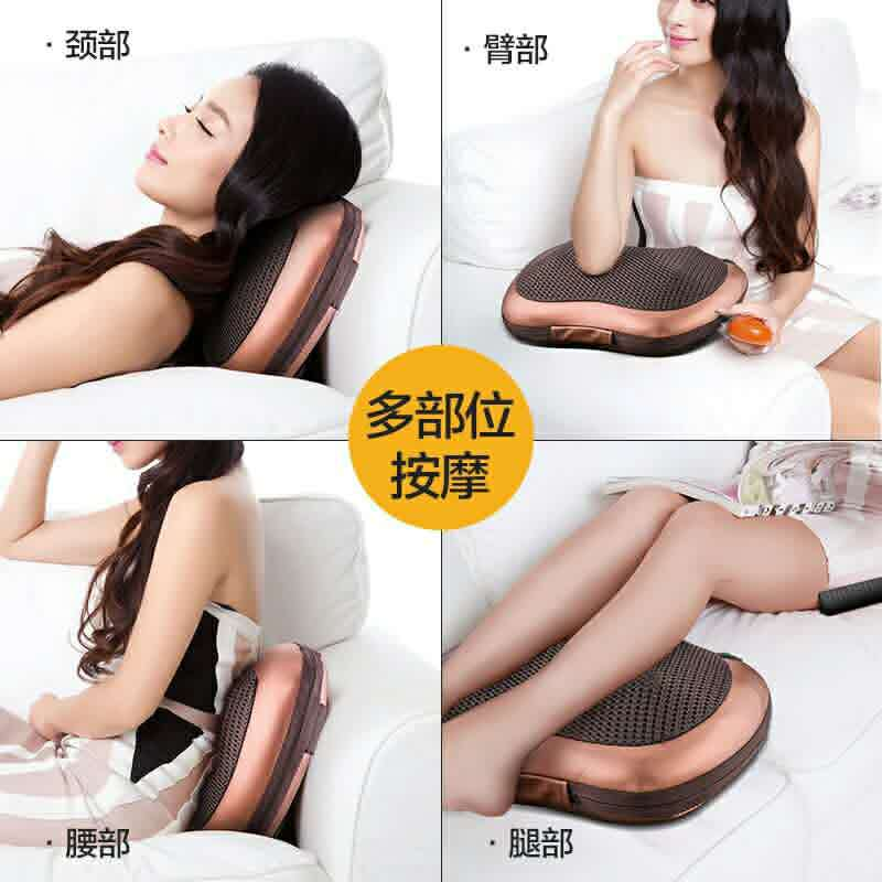 Máy massage   Car home massage pillow cervical shoulder and neck waist massage head multifunctional