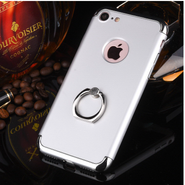 IPhone6 7plus three hole type electroplating ring buckle fall proof bracket shell factory direct sel