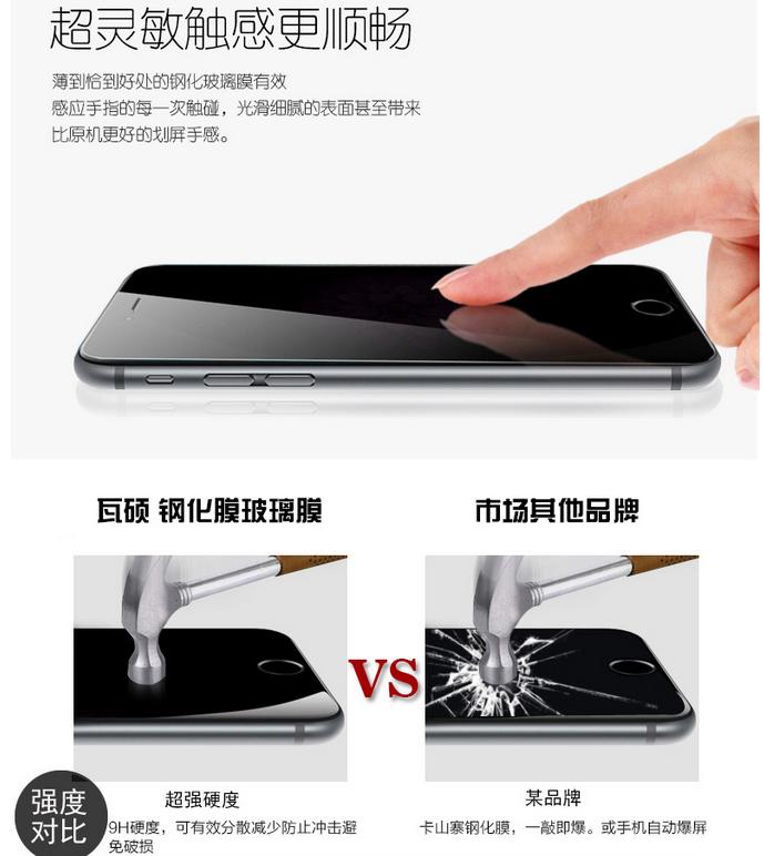 Miếng dán màn hình Iphone 6  Tempered film anti-glare glass film full-screen cover shredded mobile