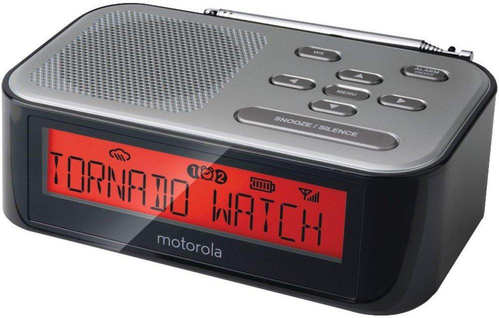 Máy Radio   Motorola mwr815 radio và báo động cảnh báo thời tiết (đen)
