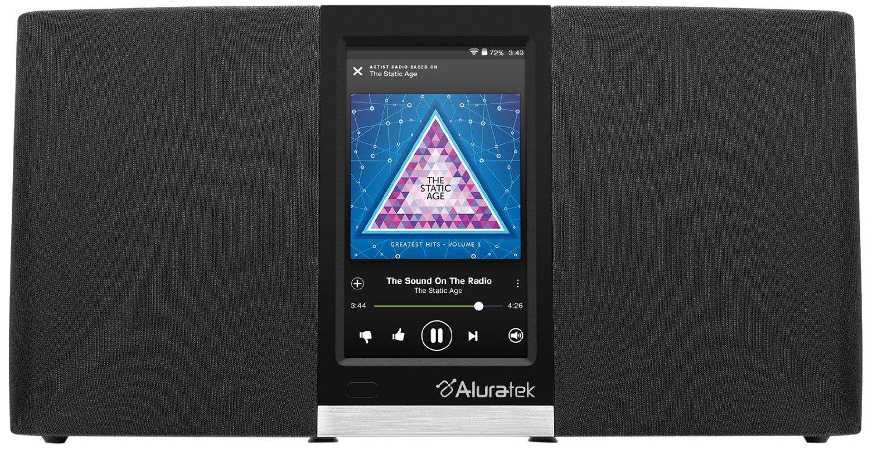 Aluratek airmm03f Wi - Fi Internet radio chảy Pandora, thằng lười biếng, iHeart, Spotify (đen)