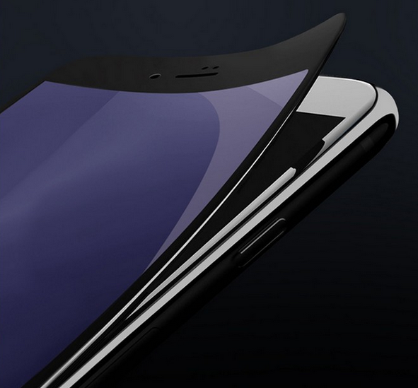 Miếng dán màn hình Iphone 6  Apple iphone6s / 7plus carbon fiber soft-edge tempered glass full-scre