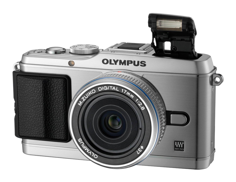 Máy ảnh kỹ thuật số  Olympus tiếng E-P3 gọn camera - Bạc (bao gồm cả m.zuiko 17mm bánh ống kính)
