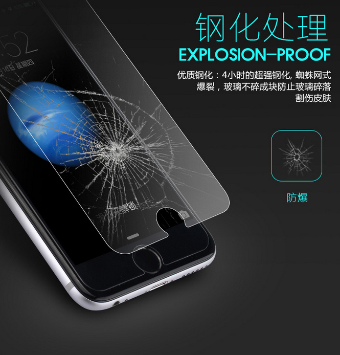 Miếng dán màn hình Iphone 6  Secretary of Naida iPhone6S mobile phone high-definition glass film Ap